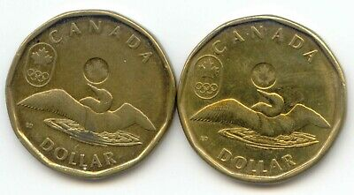 Canada 2012 + 2014 Loonies Canadian One Dollar $1 Lucky Loonie EXACT SET SHOWN
