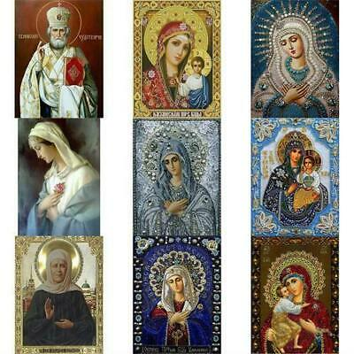 DIY 5D Diamond Painting Blessed Virgin Mary Crafts Cross Stitch Embroidery D7F5