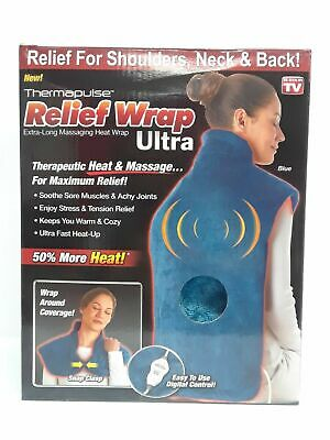 Relief Wrap Ultra, Heat and Massage Therapy Wrap, Blue – Super-soft & Washable