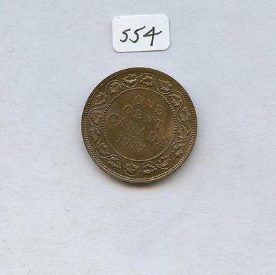 Canada 1917 1C (#554) Very Choice Unc. With High Eye Appeal Toning.