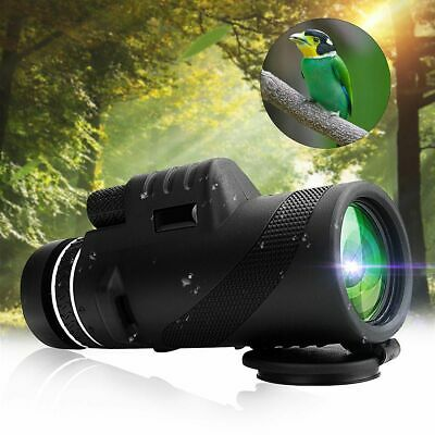 40X60 Day &Night Vision Dual Focus HD Optics Zoom Monocular Telescope UK EU