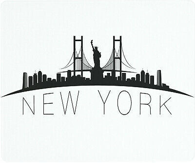 Vance 12 X 10 inch New York City Skyline Saver Tempered Glass Cutting Board