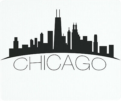 Vance 12 X 10 inch Chicago Skyline Saver Tempered Glass Cutting Board