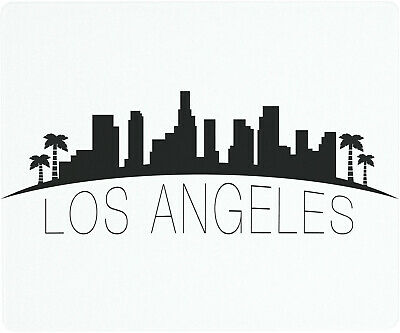 Vance 12 X 10 inch Los Angeles Skyline Saver Tempered Glass Cutting Board