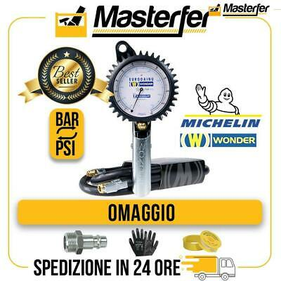 Pistola gonfiaggio professionale Wonder by MICHELIN manometro pneumatici BAR/PSI