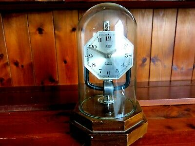 Antique Bulle 800 Day Electric Electromagnetic Clock With Glass Dome Untested