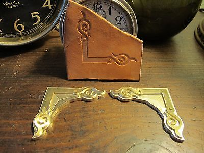 Brass HOOK CORNER set Leather Bookbinding letterpress Stamp embossing die  ST7