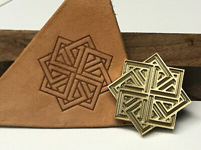 Brass WOVEN SQUARES Letterpress Tool Stamp leather embossing die