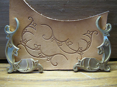 Brass FLORAL CORNER 2 set Leather Bookbinding letterpress Stamp embossing die
