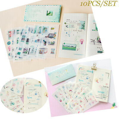 Stationery Masking Diary Label Album Decor Scrapbooking Paper Sticker