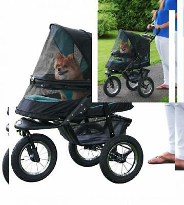 Zipper-Free Cat/Dog Stroller for Small Pets w/Bolster Pad NEW FREE SHIPPING