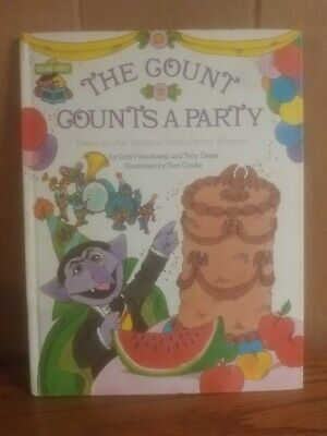 1980 The COUNT Counts A Party Sesame Street Book ~VINTAGE Jim Henson MUPPETS