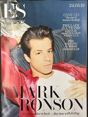 MARK RONSON  ES Magazine 24/5/19 COVER & 8 PAGE EXCLUSIVE FEATURE  MINT