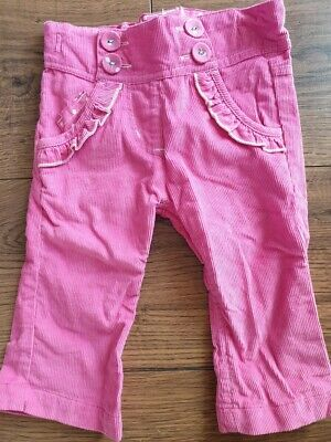 F & F Baby Girls Hot Pink Cord Trousers Age 6-9 9-12 12-18 months NEW SALE!