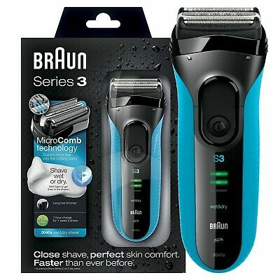 Braun Series 3 ProSkin 3040s Wet and Dry Mens Electric Rechargeable Shaver Razor