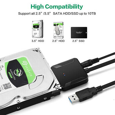 5Gbps Transmission Speed USB 3.0 to SATA Converter Adapter For Windows Mac