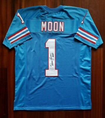 a4d90a547 PREMIUM FRAMED WARREN Moon Autographed Houston Oilers Jersey Signed ...