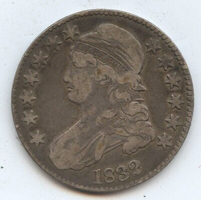 1832 Bust 50C (#3205) Nice VF. Some Edge Nicks. Carefully Check out the Photos.