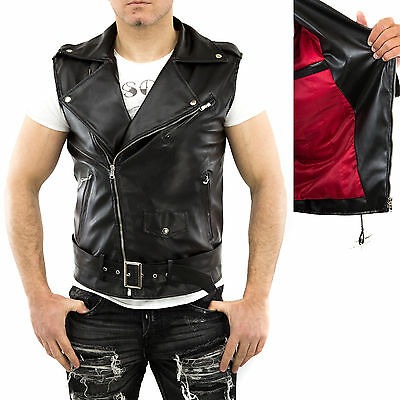 ★Giacca Giubbotto Uomo in di PELLE 100% Men Leather Jacket Veste Homme Cuir 17