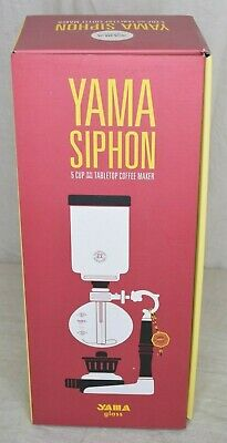 Yama Glass Tabletop Coffee Siphon Vacuum Pot Brewer with Rekrow Alcohol Burner