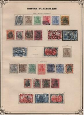 GERMAN EMPIRE: 1902-1905 Examples - Ex-Old Time Collection - Album Page (23976)