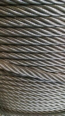 "1/2"" Bright Wire Rope Steel Cable IWRC 6x37 (100 Feet)"