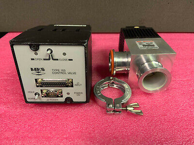 MKS 153 153E-1-40-2 Throttle Valve & Edwards PV40PKA B C41411000 Isolation Valve