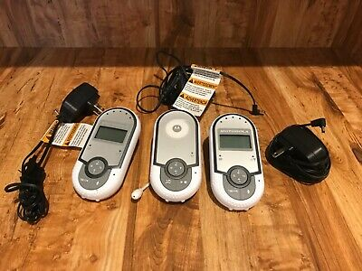 Motorola MBP16/2BU Baby Audio Monitor System with LCD Display & AC Adapters D1A