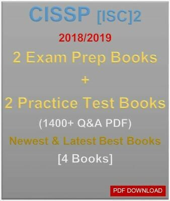 [PDF] CISSP [ISC]2 2018/2019 LATEST Prep Guide Books + Tests 1400+ [4 Books}
