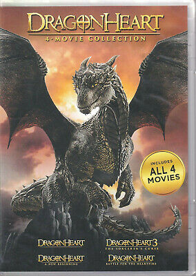 DRAGONHEART: 4-Movie Collection (DVD 2017 4-Disc Set) (P2)
