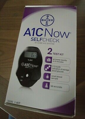 Bayer A1C Now Self Check Blood Sugar Monitor kit still sealed