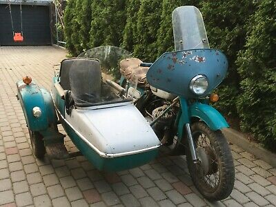 Izh jupiter-3k Cossack with sidecar 1974 Russian motorcycle neval barn find
