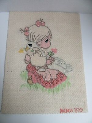 Acabado Bordado Longstitch Precious Moments Niña Ganso God Is Love Completo