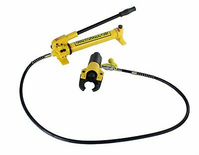 """Steel Dragon Tools® 750 2"""" Hydraulic Wire Cable Cutter Head and 7475H Hand Pump"""