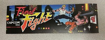 Final Fight arcade marquee sticker. 3 x 10. (Buy 3 stickers, GET ONE FREE!)