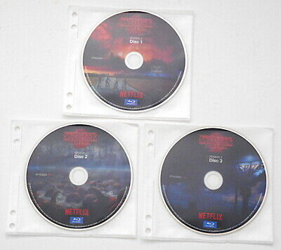 Netflix Stranger Things Season 2 Blu-ray ONLY 3 Disc Set NEW in Sleeves No Box