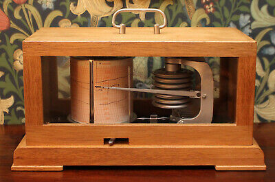 A Superb Vintage Clockwork Yacht Barograph with Charts, Feingeratebau D. etc