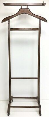 "Nice Vintage Valet Butler Suit Clothes Shirt Tie Rack with Wheels --  43"" X 18"""