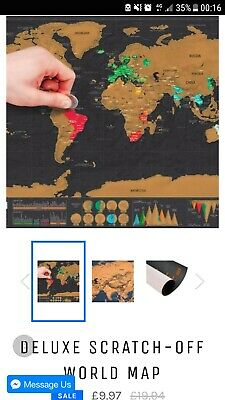 Large BLACK Scratch Off World Map Poster Personalized Travel Vacation Log Gift