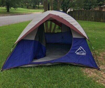 Vintage Sears Hillary Hex Dome Camping Tent W Two Lockers Model