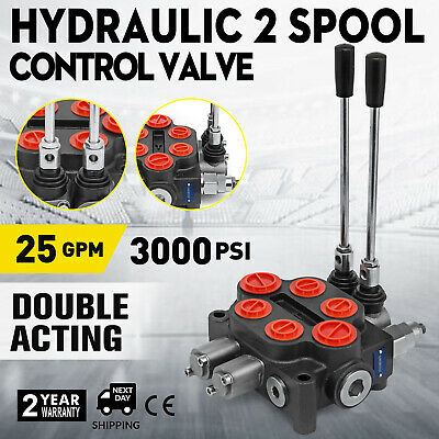 2 Spool Hydraulique Valve de Commande Double Acting  Centre STRONG PACKING