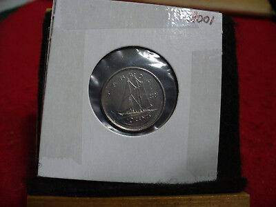 2001 Canada  Dime  10 Cents    Top Grade  01  Proof Like  Sealed  See Photos