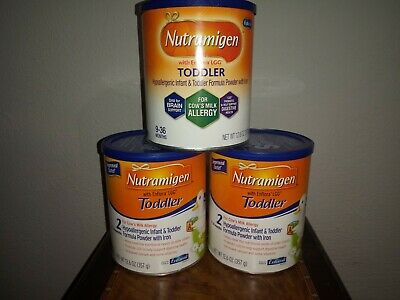 Nutramigen Toddler with enflora lgg, 12.6 Oz Powder 3 Cans Exp 10/19 and Later
