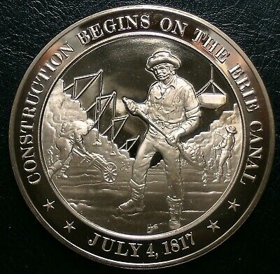 FRANKLIN MINT HISTORY of US Battle of Lake Erie 1813 45mm Proof