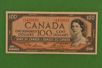 1954 Bank of Canada $100. Modified Portrait. CJ1433916