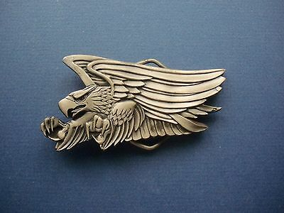 Screaming Eagle Belt Buckle-Vintage 1980 Collectible-Indiana Metal Craft