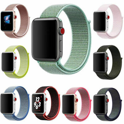 Sport Loop Band Nylon Strap For Apple Watch Series 4 3 2 1 42mm 38mm 44mm 40mm
