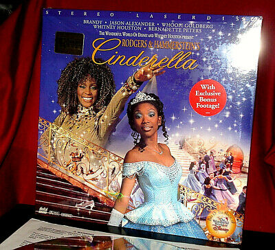 NEW! 'CINDERELLA' Whitney HOUSTON Musical with BRANDY on AC-3 Laser Disc, SEALED