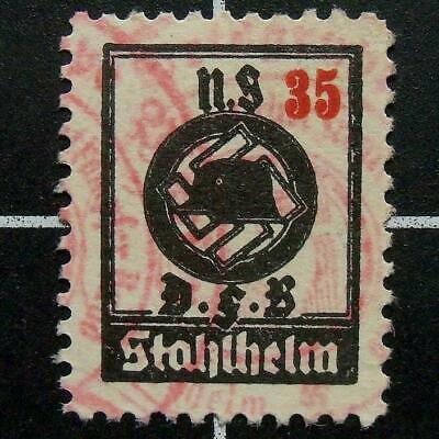 German STAHLHELM,STEEL HELMET revenue stamp/scarce 1935-3rd Reich era Germany