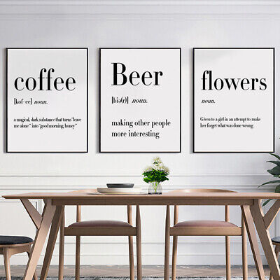 Wine Beer Inspirational Quotes Prints Posters Home Bar Decor Canvas